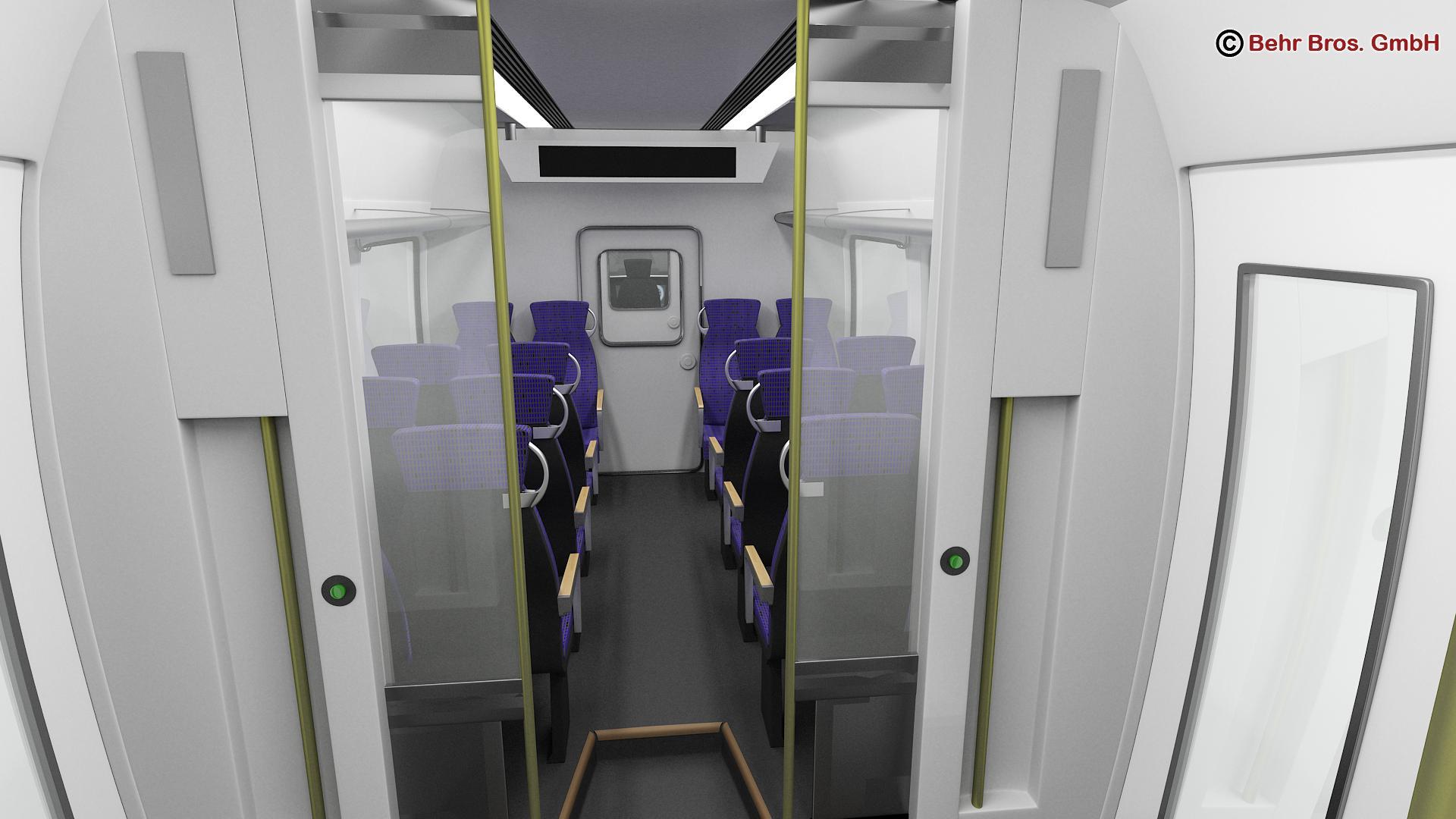 generic commuter train 3d model 3ds max fbx c4d ma mb obj 206644
