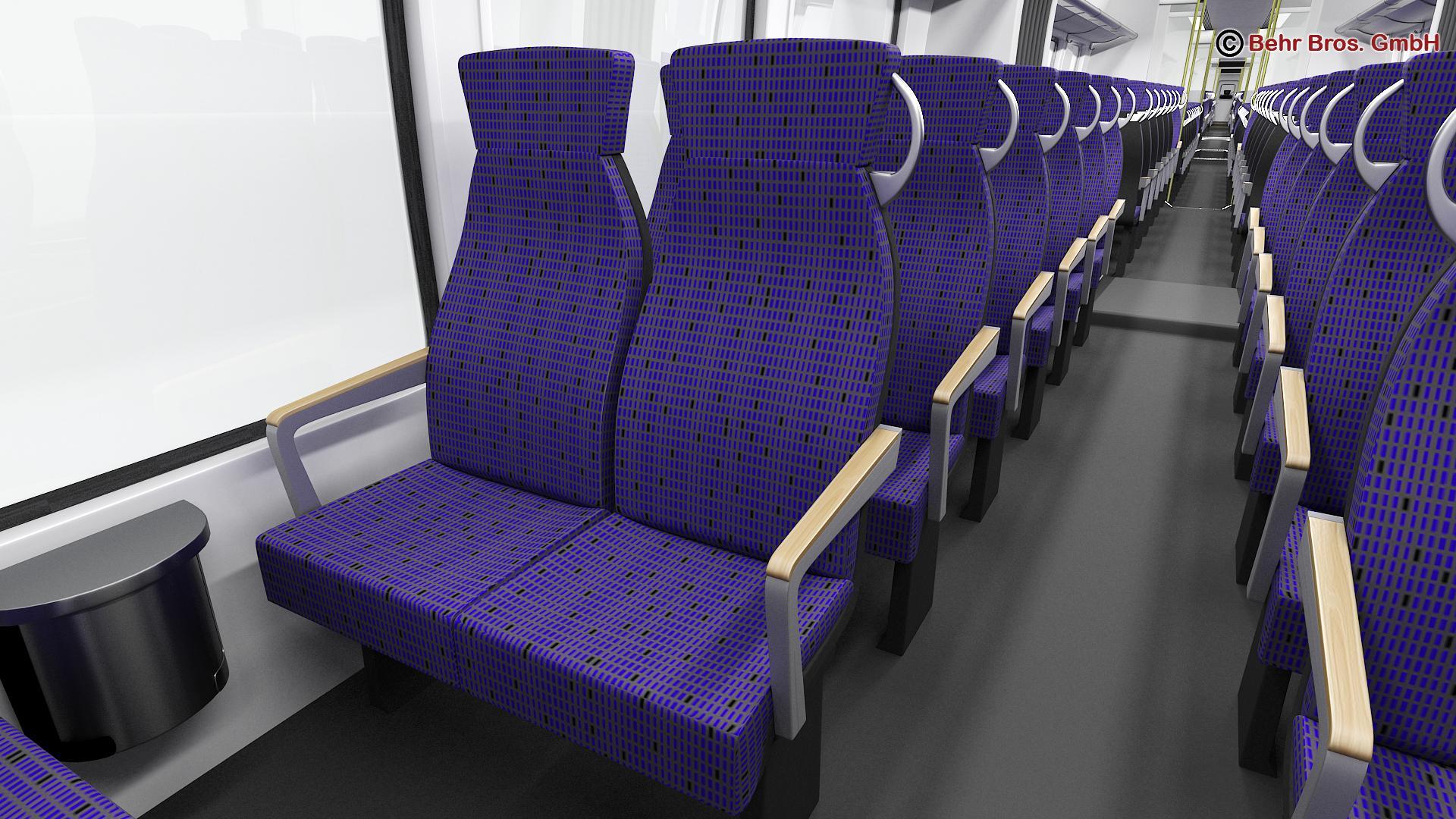 generic commuter train 3d model 3ds max fbx c4d ma mb obj 206646