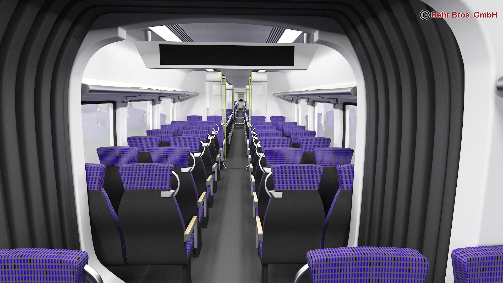 generic commuter train 3d model 3ds max fbx c4d ma mb obj 206647