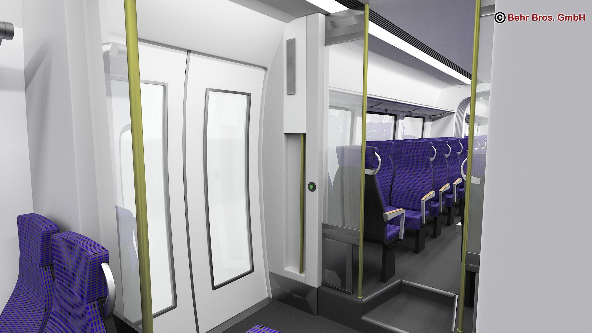 generic commuter train 3d model 3ds max fbx c4d ma mb obj 206648