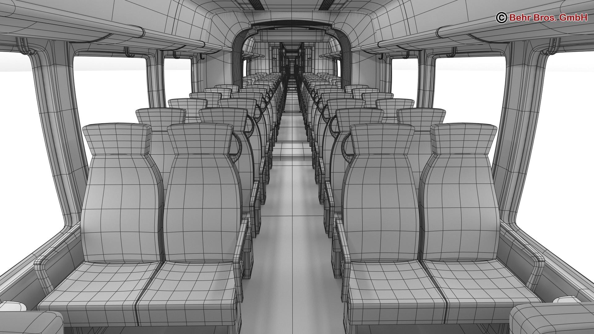 generic commuter train 3d model 3ds max fbx c4d ma mb obj 206649