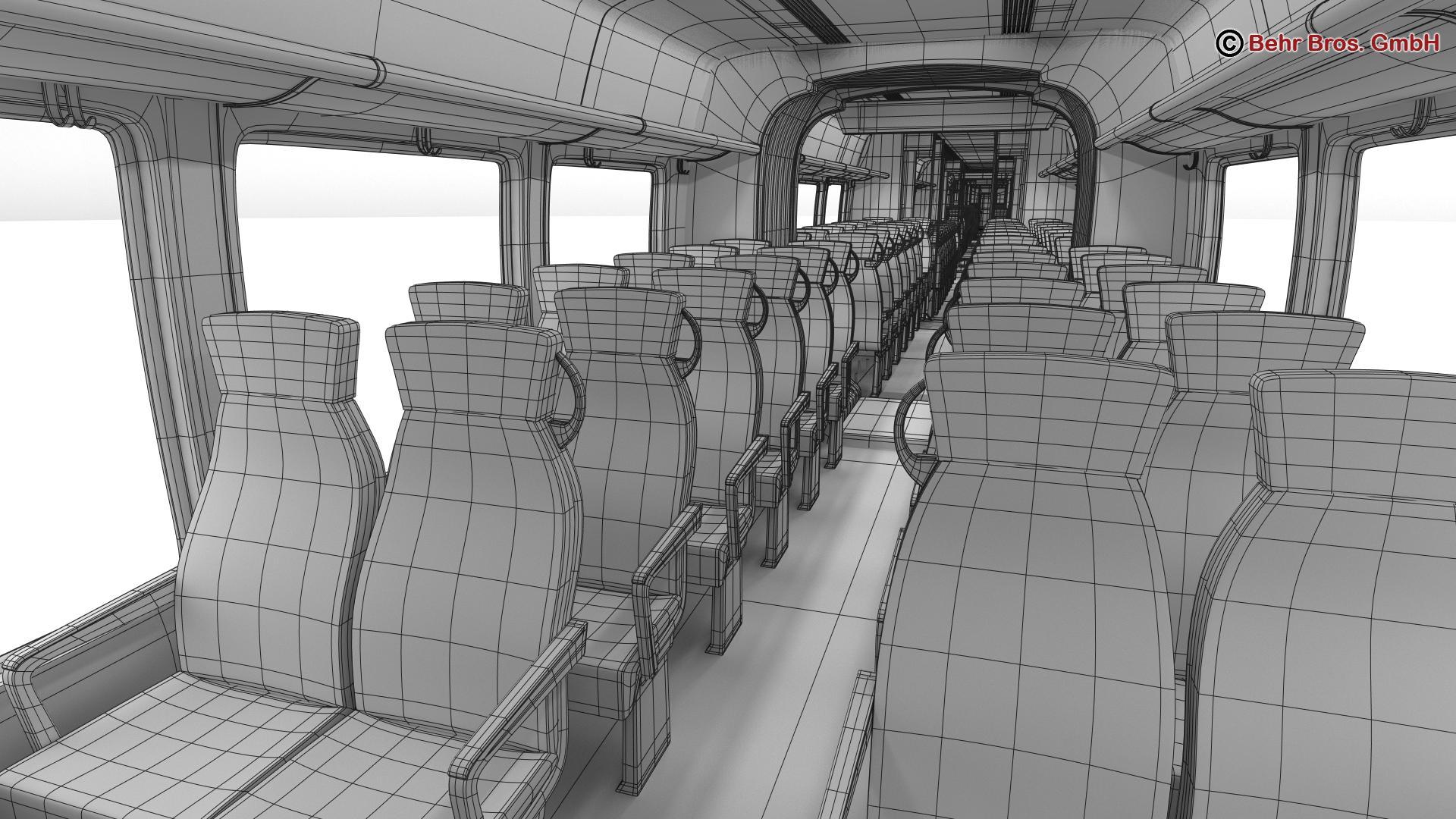 generic commuter train 3d model 3ds max fbx c4d ma mb obj 206650