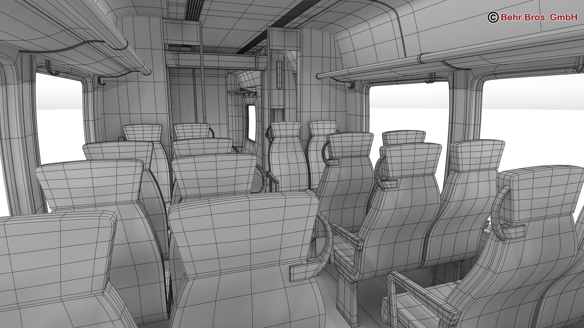 generic commuter train 3d model 3ds max fbx c4d ma mb obj 206651