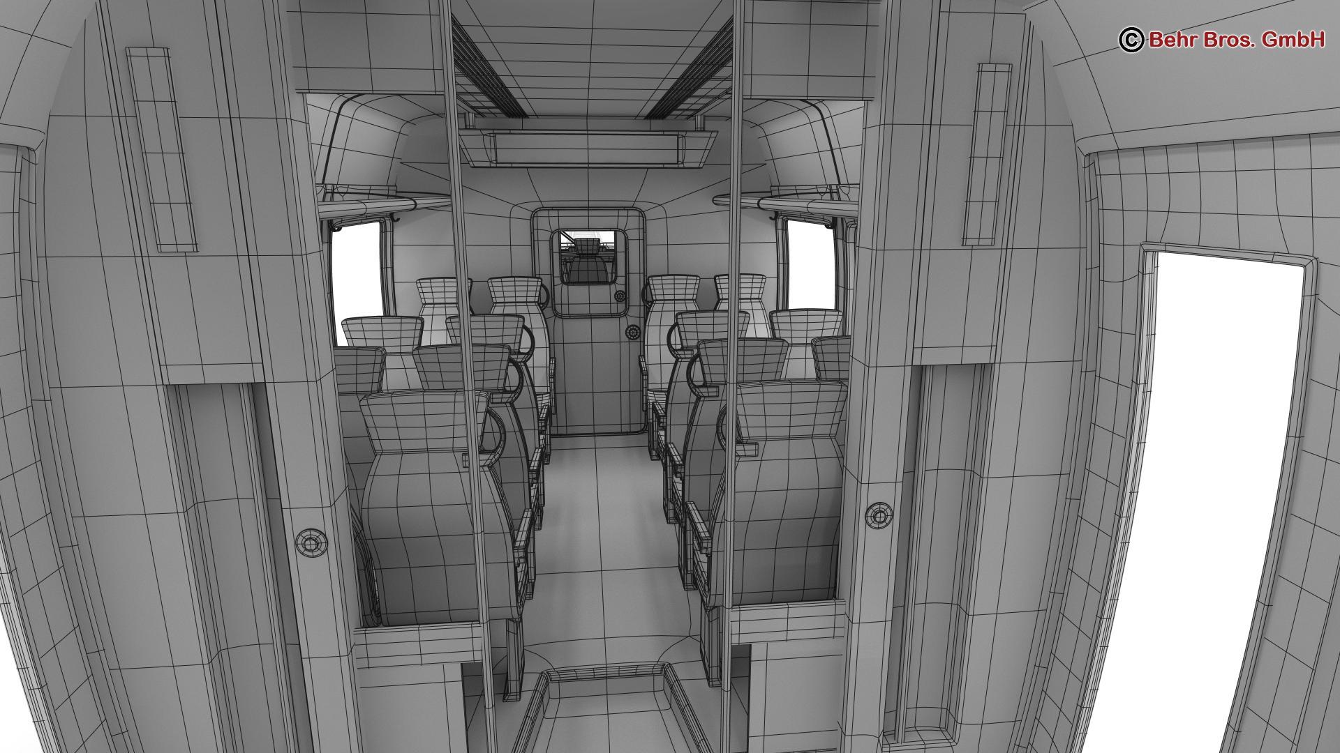 generic commuter train 3d model 3ds max fbx c4d ma mb obj 206652