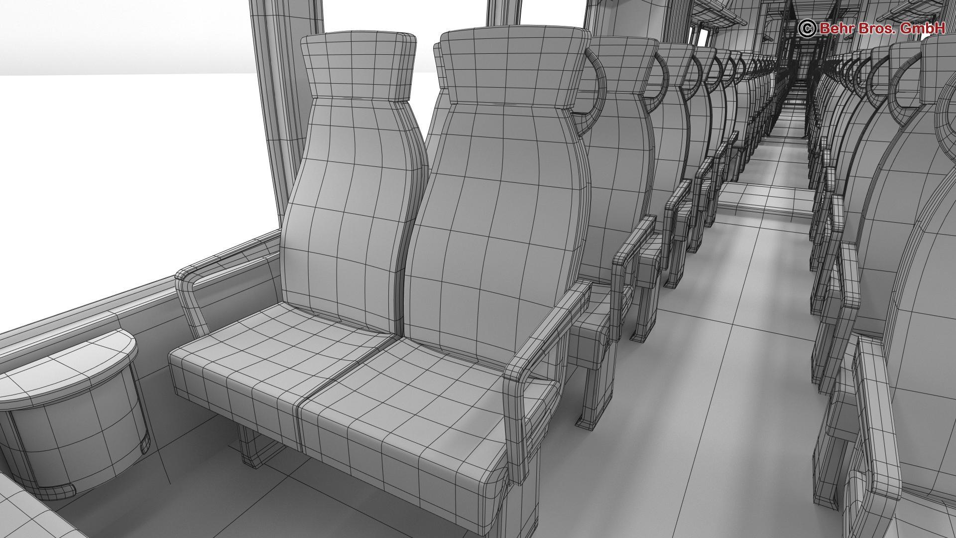 generic commuter train 3d model 3ds max fbx c4d ma mb obj 206654