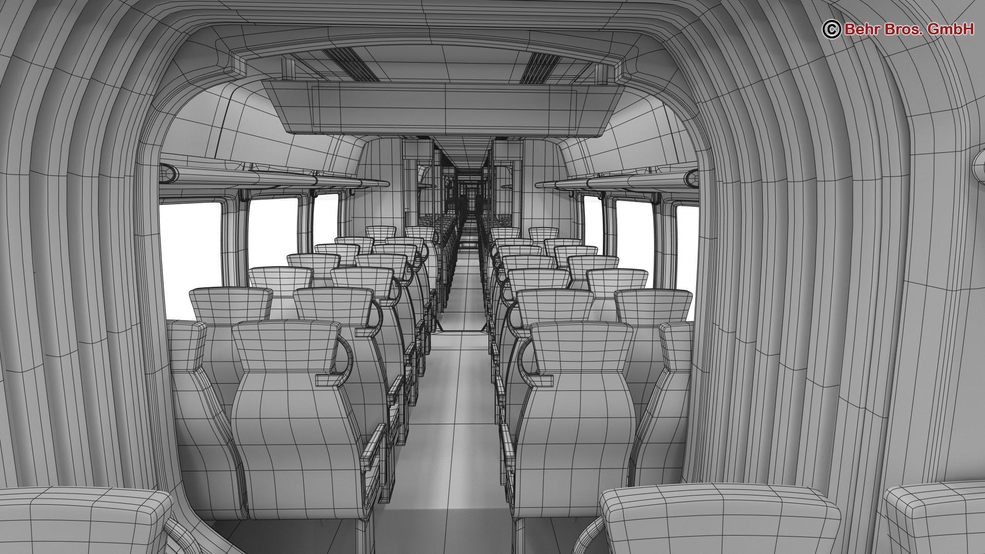 generic commuter train 3d model 3ds max fbx c4d ma mb obj 206656
