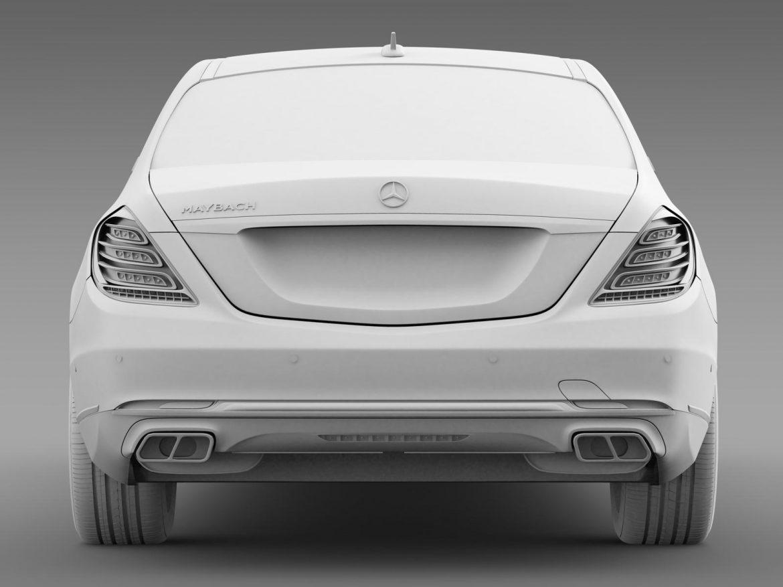 mercedes maybach pullman 2016 3d model 3ds max fbx c4d lwo ma mb hrc xsi obj 206670