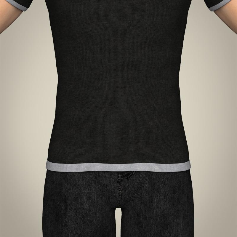 realistic young teen boy 3d model 3ds max fbx c4d lwo ma mb texture obj 206681