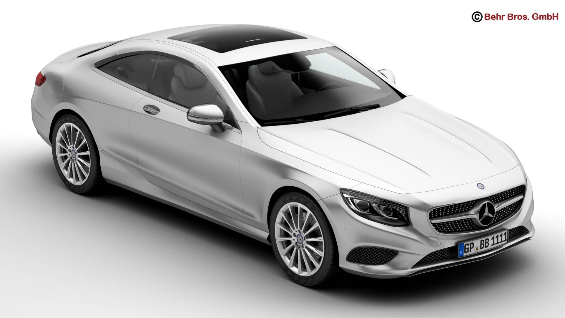 mercedes s class coupe 2015 2 headlight versions 3d model 3ds max fbx c4d lwo ma mb obj 206701