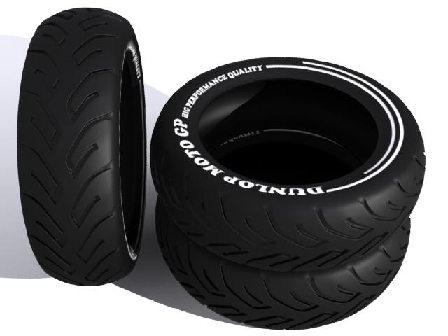 tire moto 3d model max fbx 206734