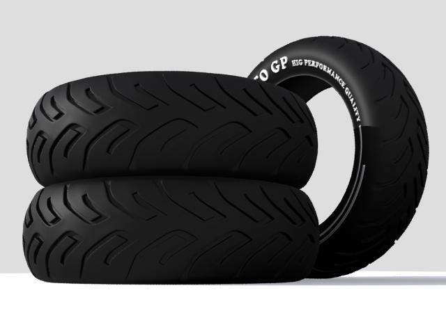 tire moto 3d model max fbx 206735