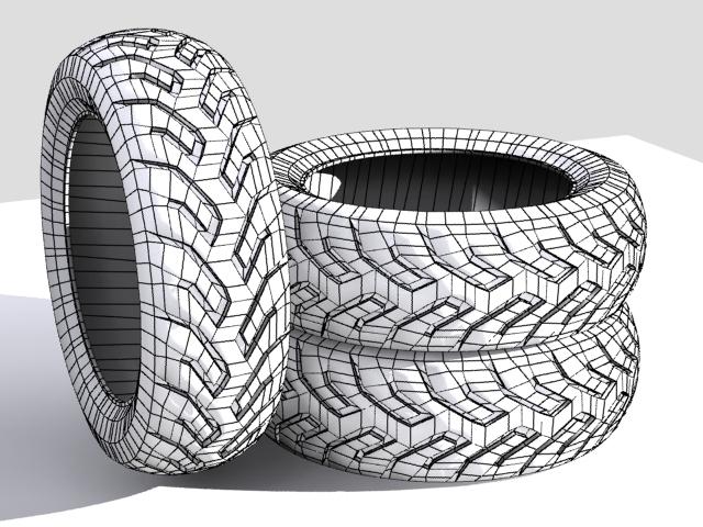 tire moto 3d model max fbx 206736