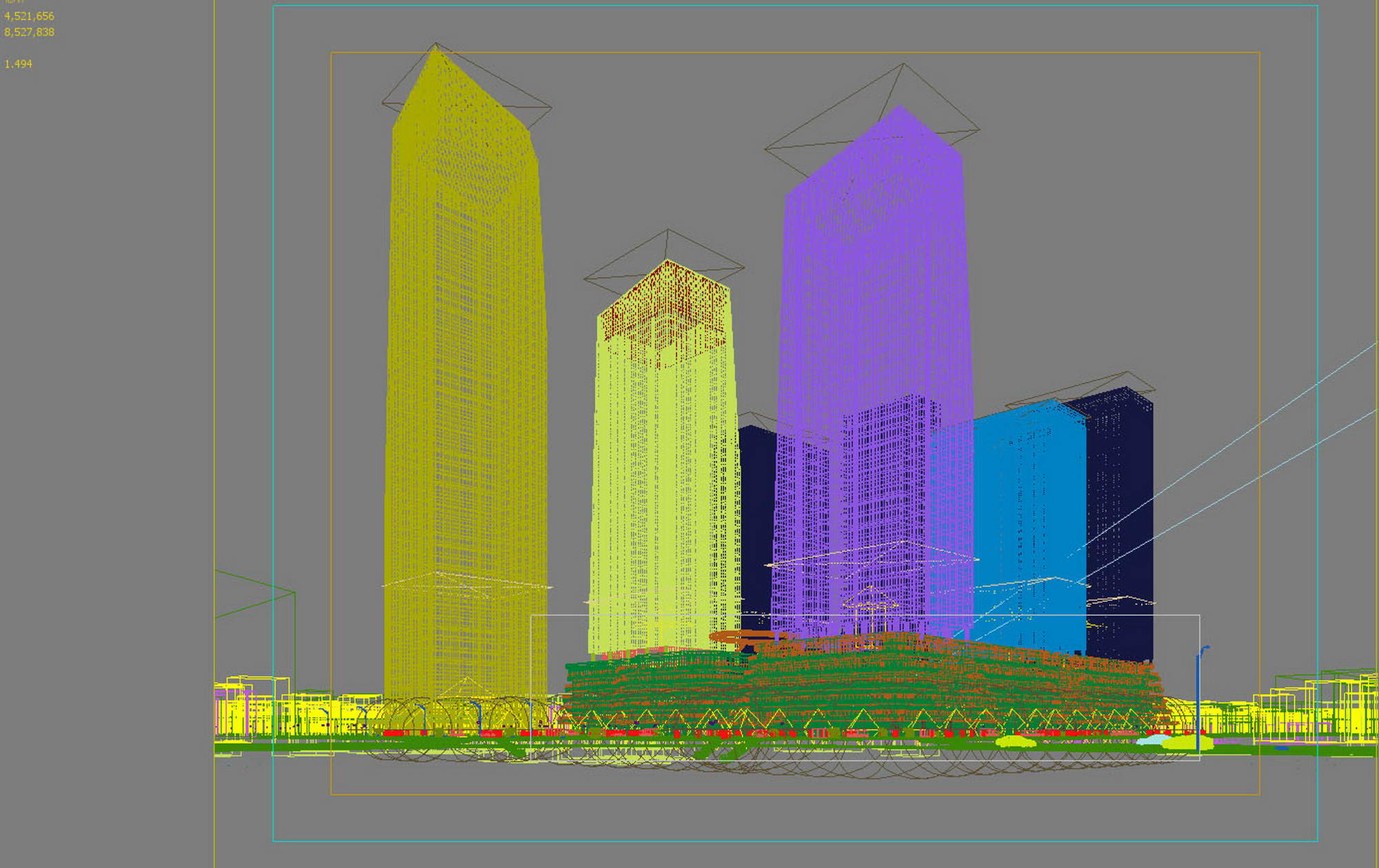 city shopping mall 006 3d model max 206766