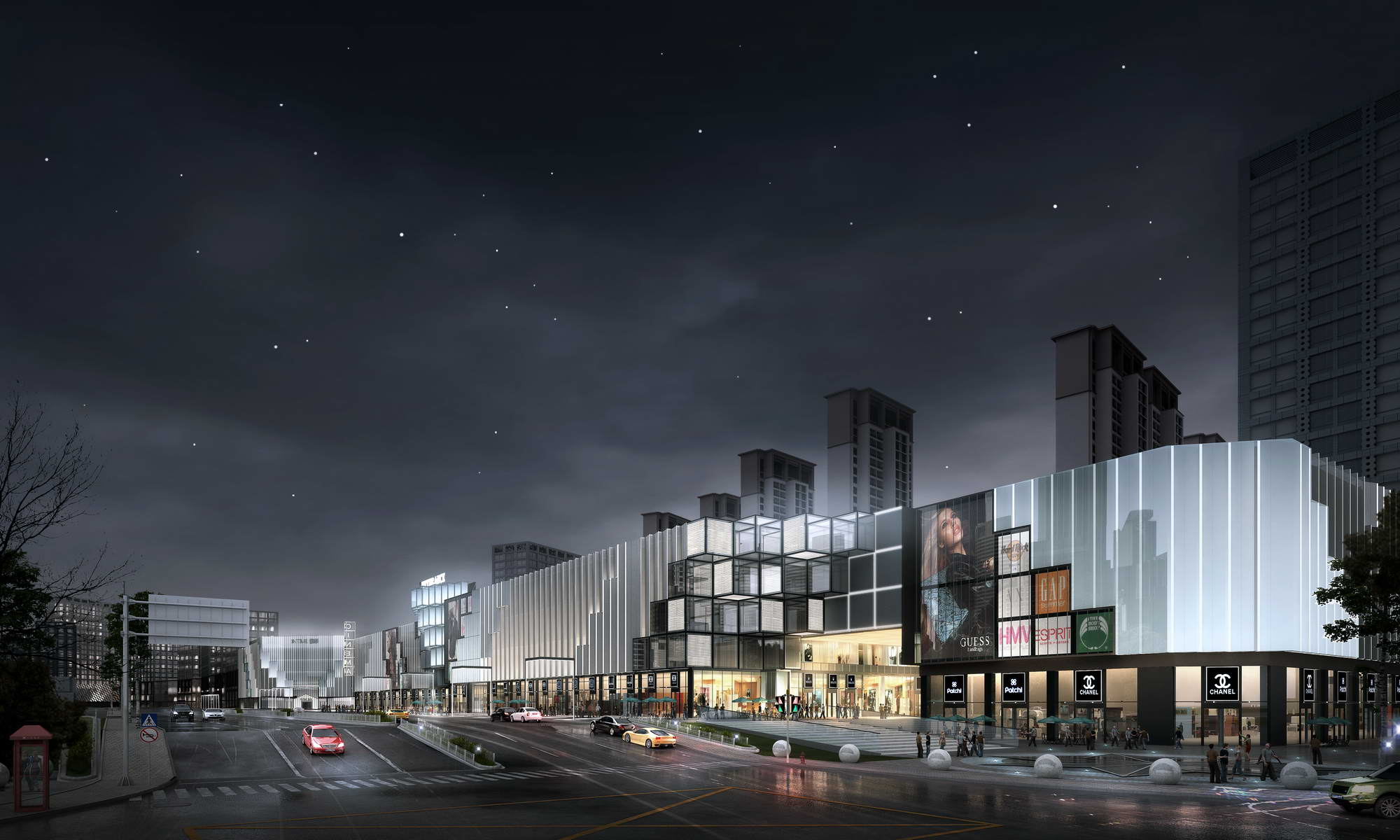city shopping mall 005 3d model max 206772
