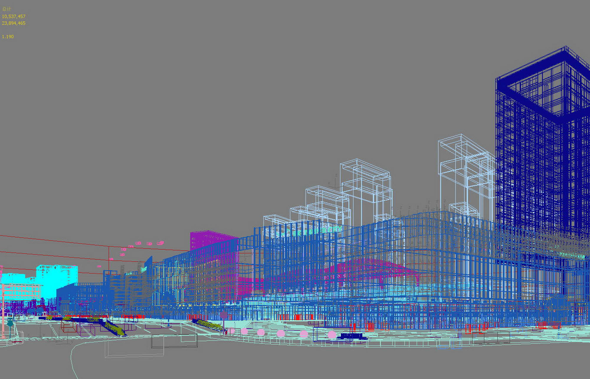 city shopping mall 005 3d model max 206775