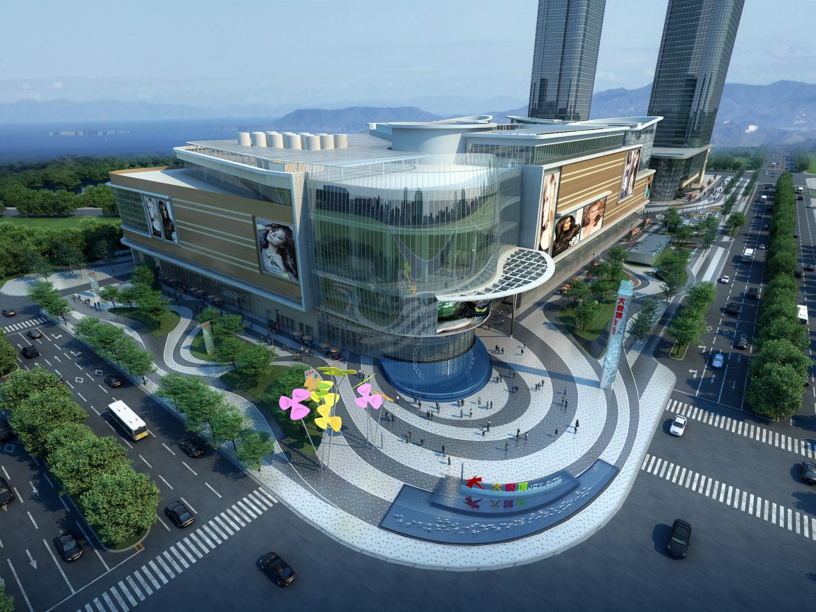 city shopping mall 009 3d model max 206793