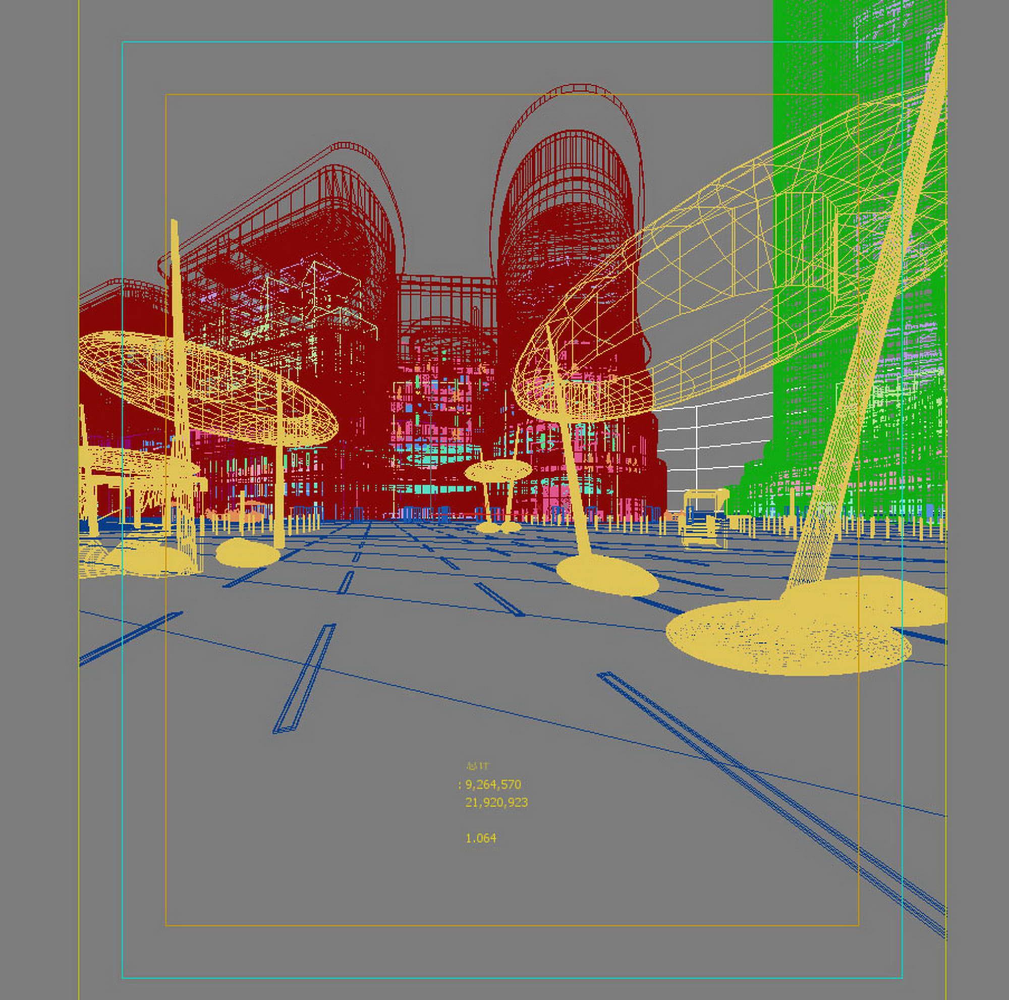 city shopping mall 009 3d model max 206797