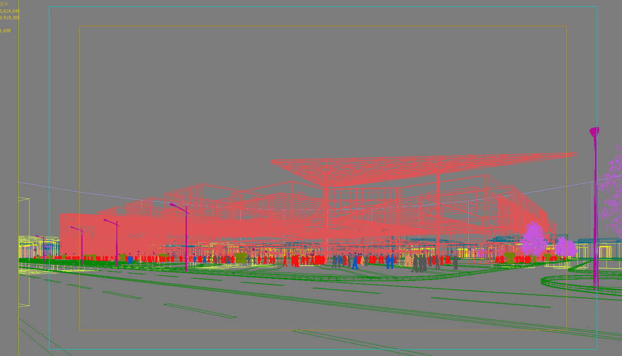 city shopping mall 011 3d model max 206812