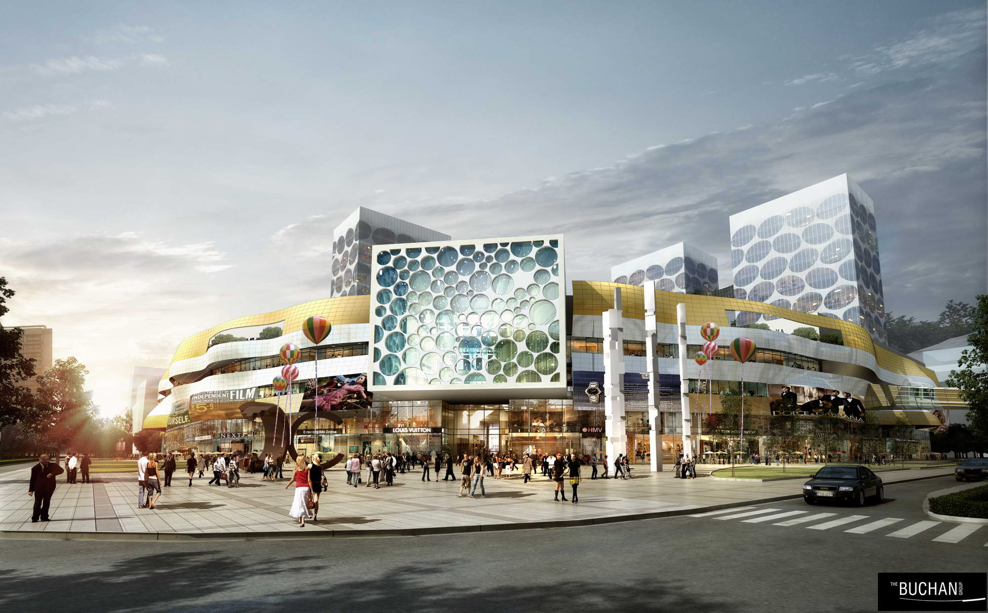 City shopping mall 018 3d Model City Tree max AR VR