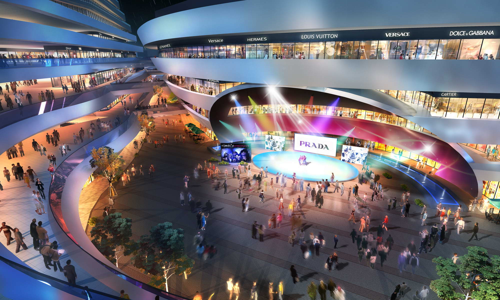 city shopping mall 023 3d model max 206898
