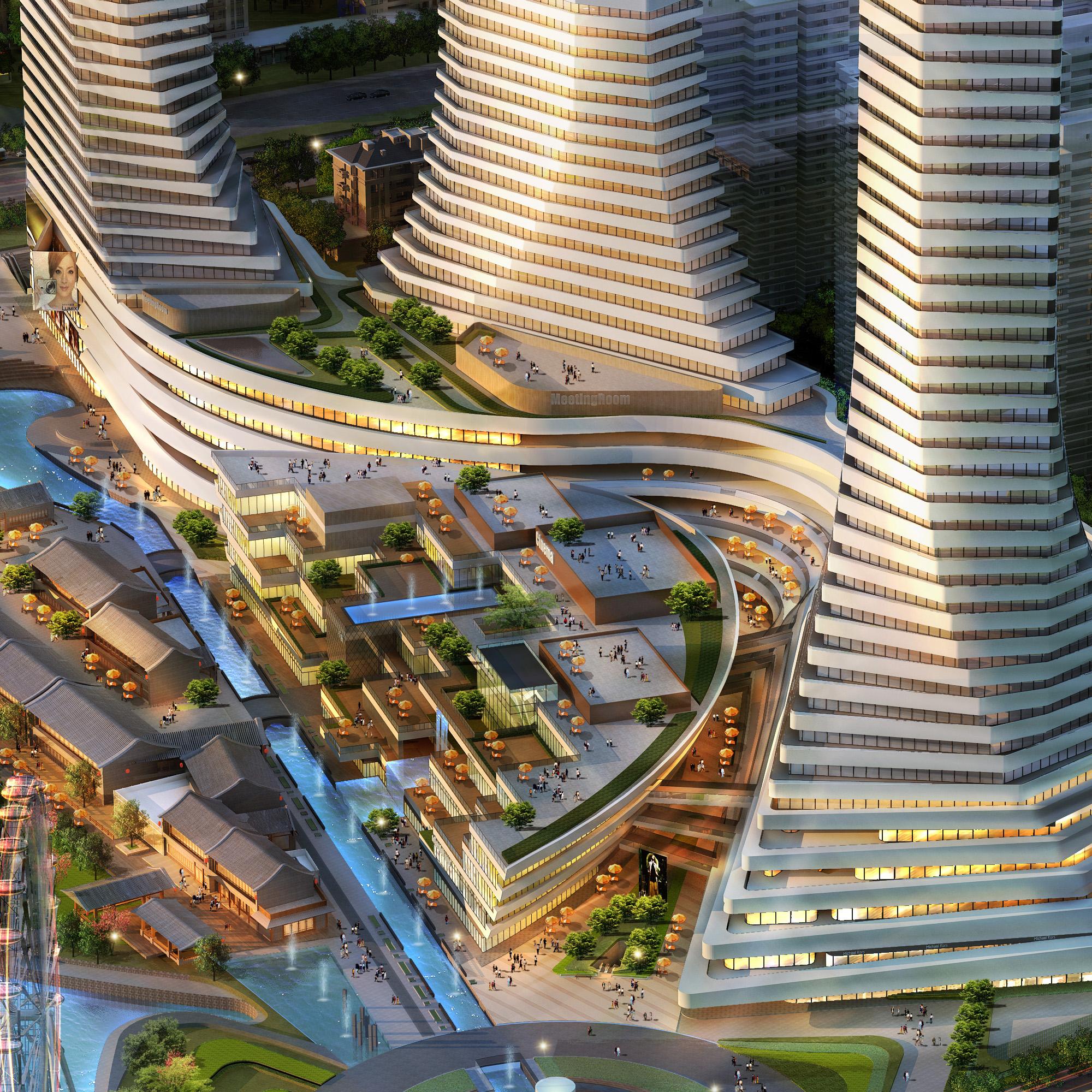 city shopping mall 023 3d model max 206899