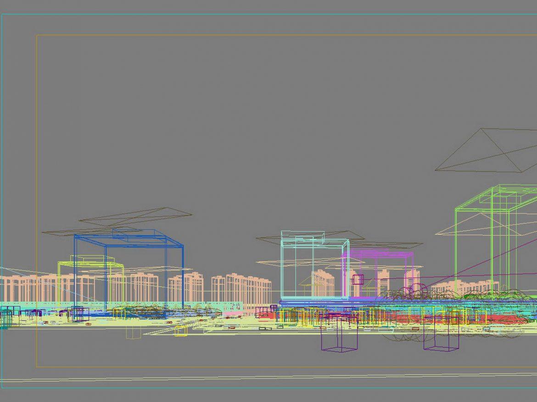 City shopping mall 023 3d model 0