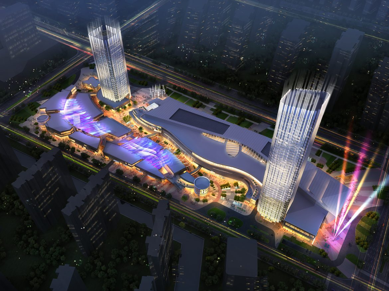 city shopping mall 025 3d model max psd 206913