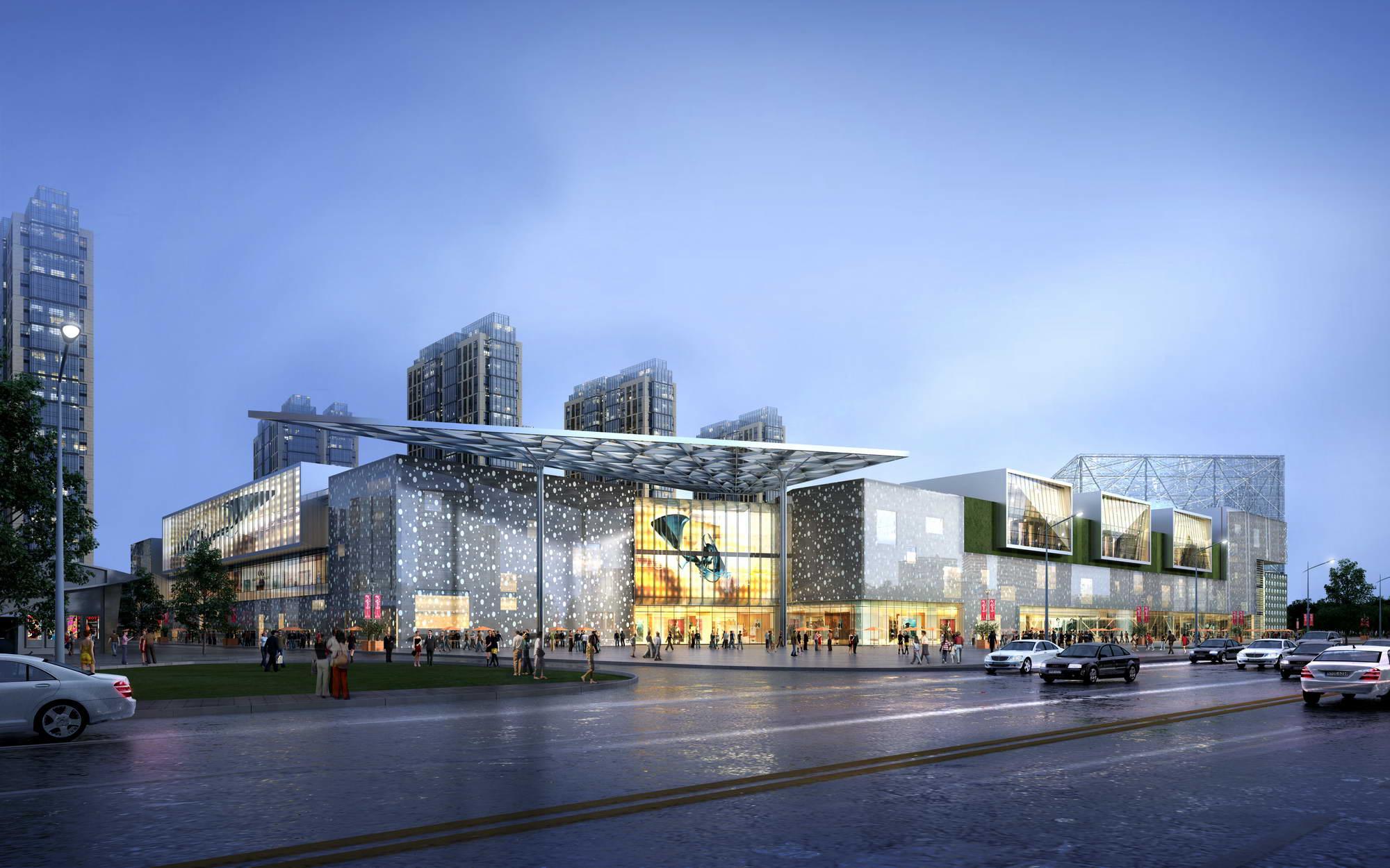 City shopping mall 029 3d model max psd 206942