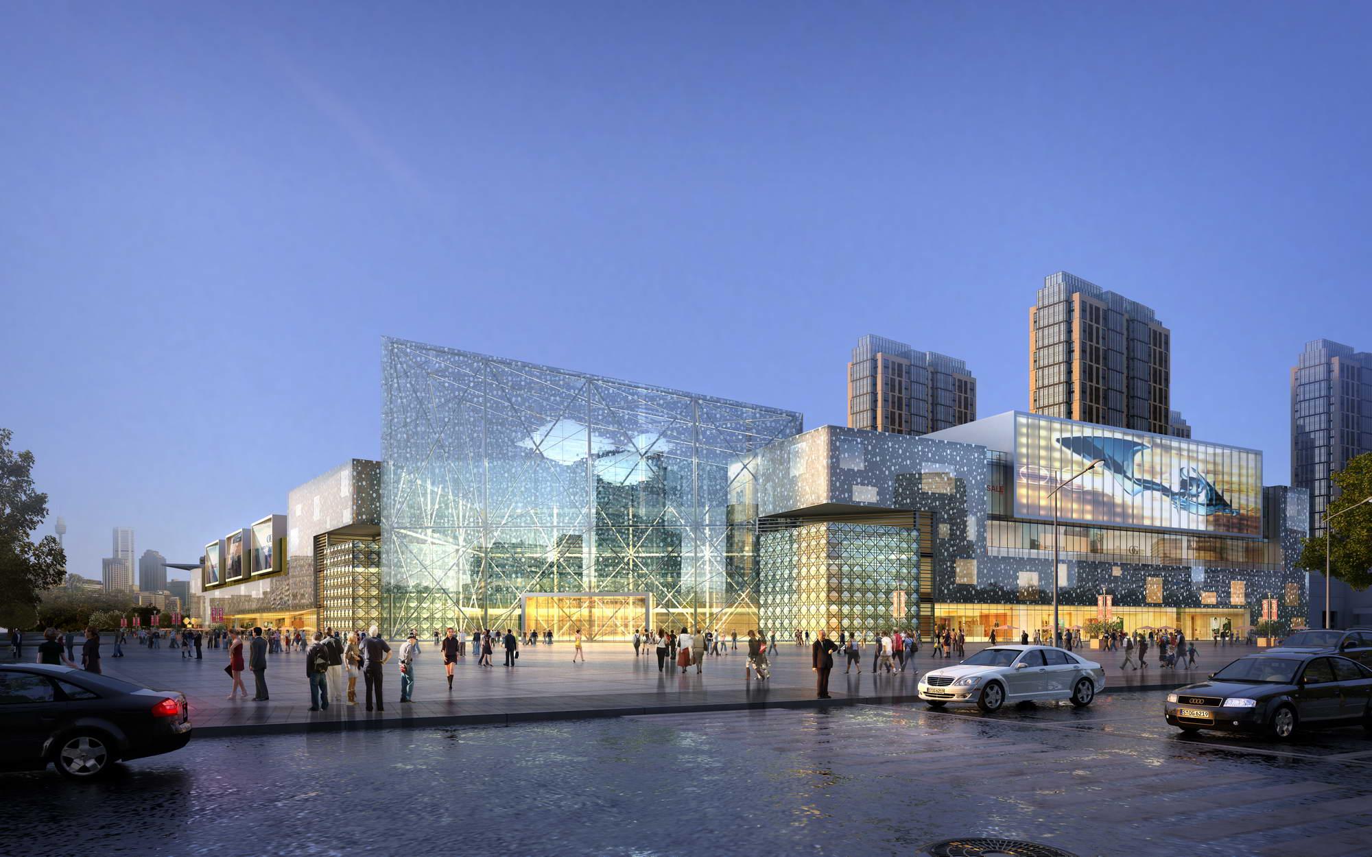 city shopping mall 029 3d model max psd 206943