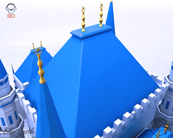 blue castle 3d model 3ds max fbx flt 207000