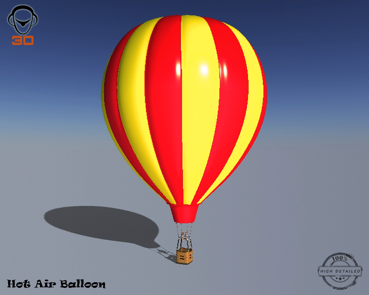 hot air balloon 3d model 3ds max fbx obj 207008