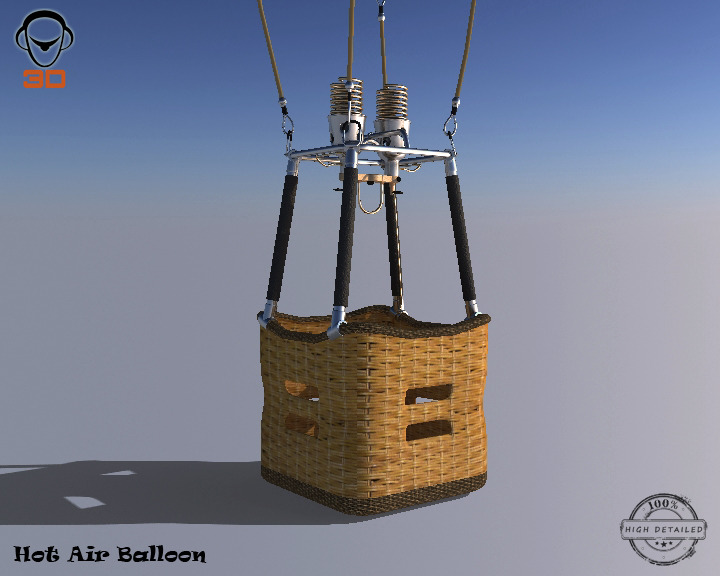 hot air balloon 3d model 3ds max fbx obj 207010