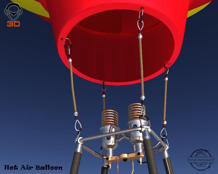 hot air balloon 3d model 3ds max fbx obj 207012