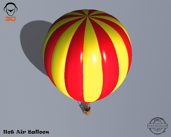 hot air balloon 3d model 3ds max fbx obj 207013
