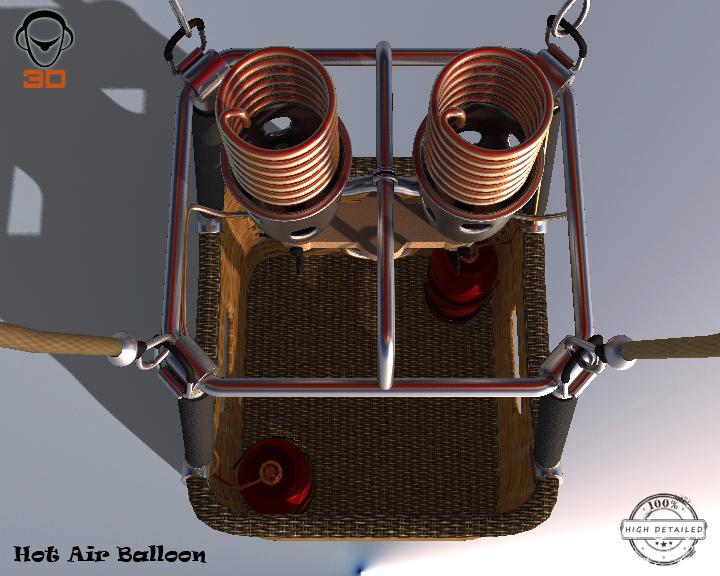 hot air balloon 3d model 3ds max fbx obj 207014