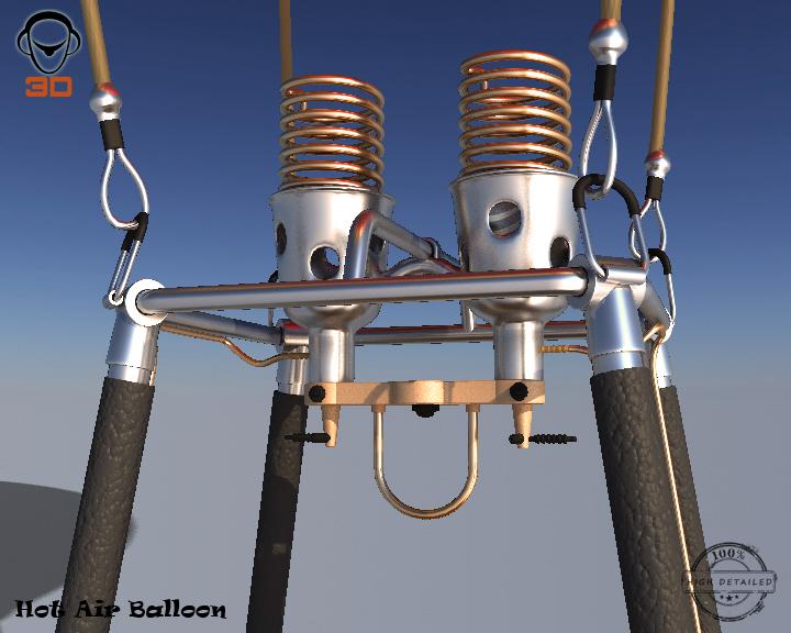 hot air balloon 3d model 3ds max fbx obj 207015