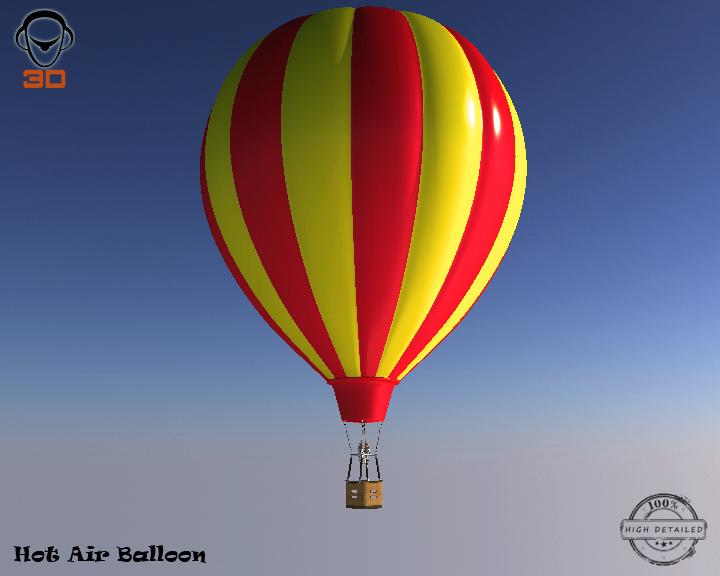 hot air balloon 3d model 3ds max fbx obj 207016