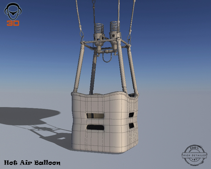 hot air balloon 3d model 3ds max fbx obj 207021