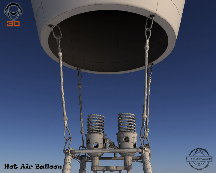 hot air balloon 3d model 3ds max fbx obj 207023