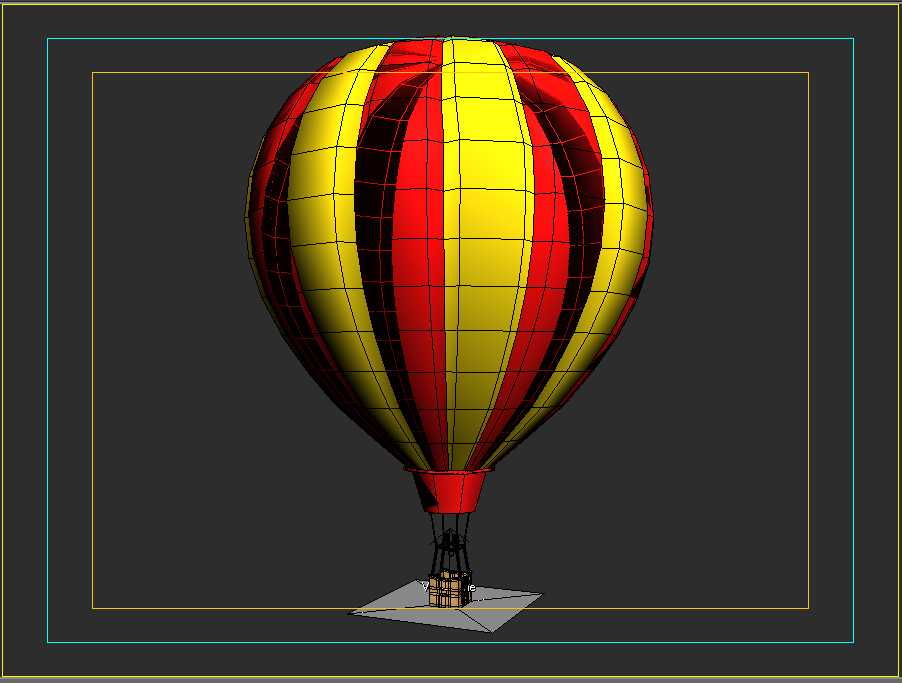 hot air balloon 3d model 3ds max fbx obj 207024