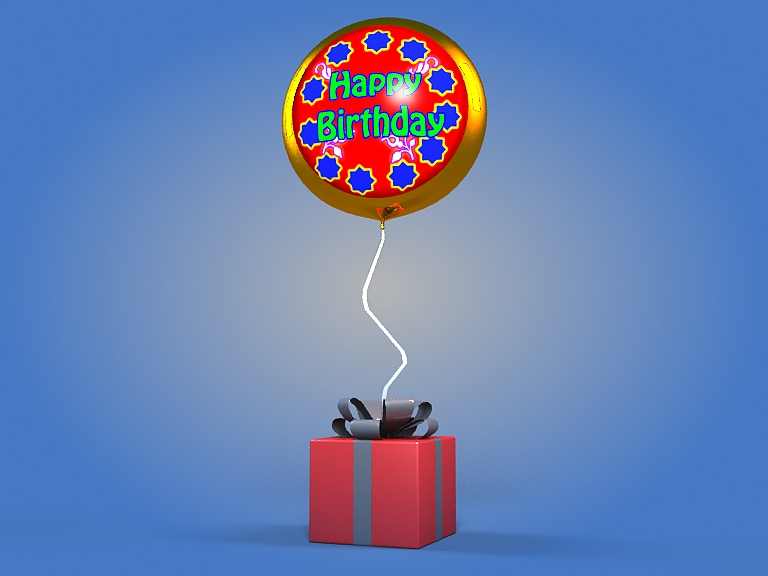 birthday balloon 3d model 3ds max fbx obj 207038