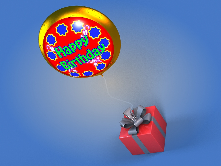 birthday balloon 3d model 3ds max fbx obj 207039