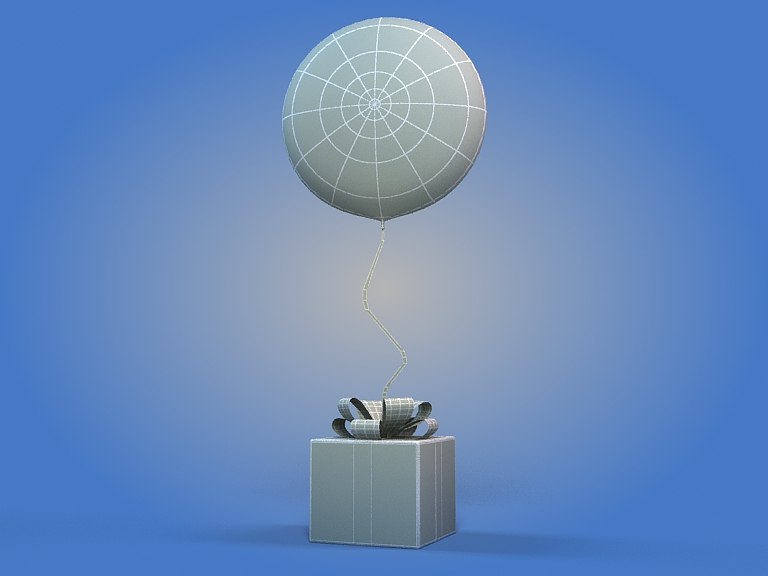 birthday balloon 3d model 3ds max fbx obj 207041