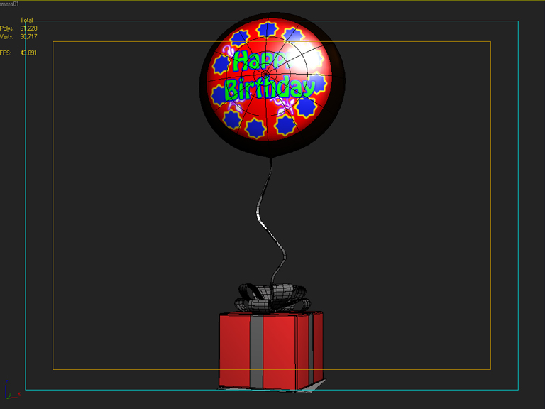 birthday balloon 3d model 3ds max fbx obj 207043