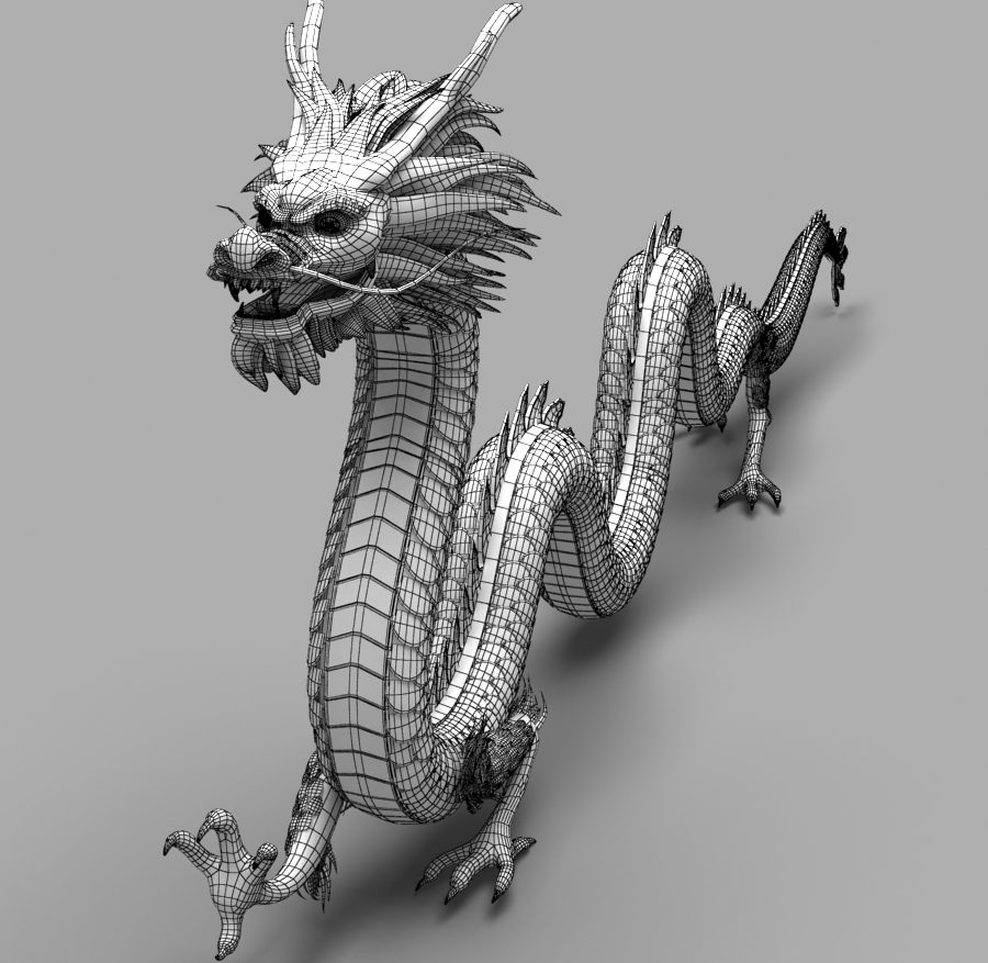 Asian Chinese Dragon 1 ( 353.91KB jpg by hpixel )