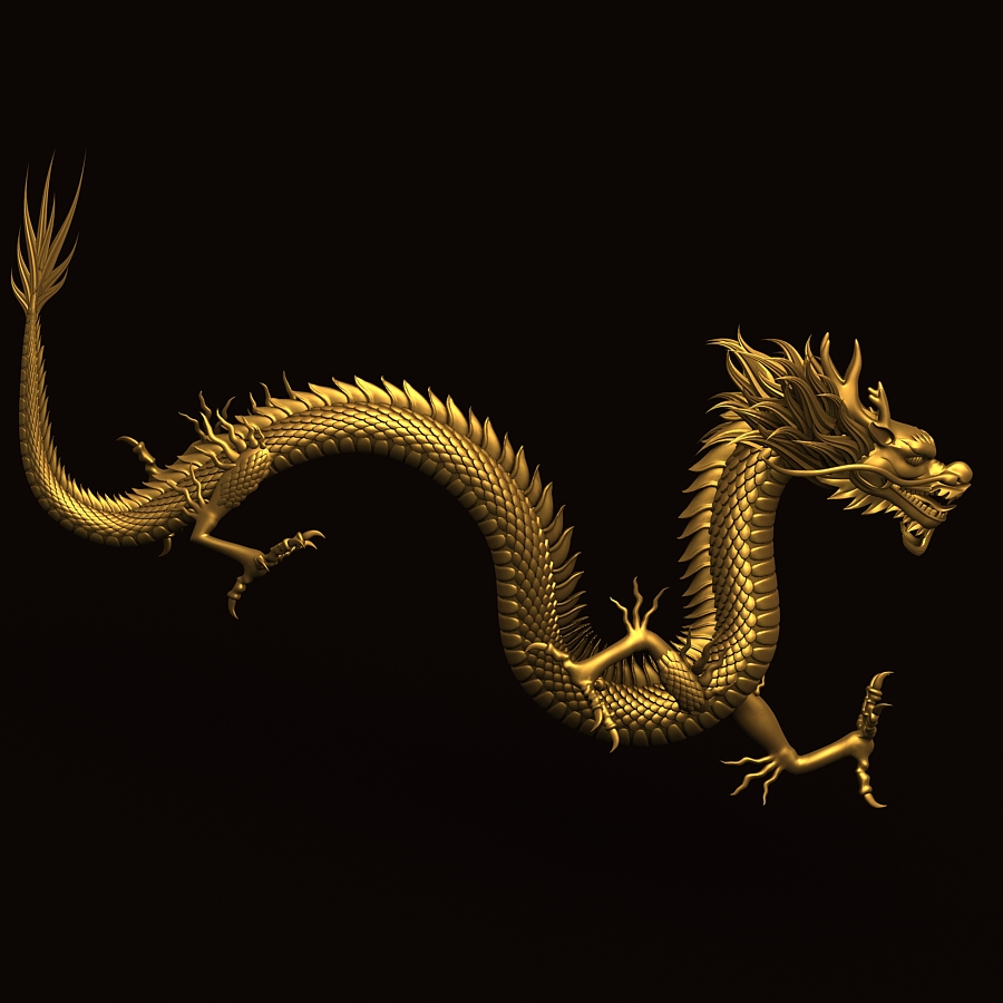 chinese dragon 3d model - photo #23