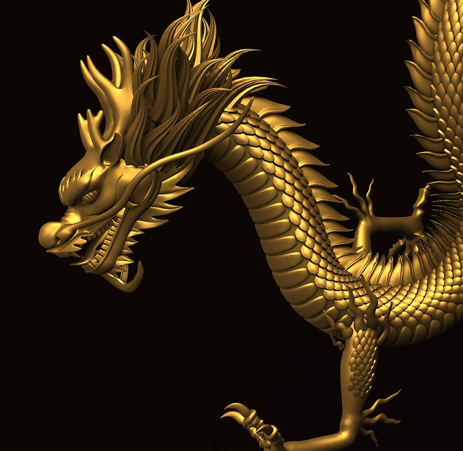 Asian Chinese Dragon 2 ( 378.87KB jpg by hpixel )