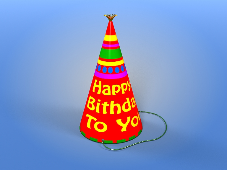 birthday hat 3d model 3ds max fbx obj 207106
