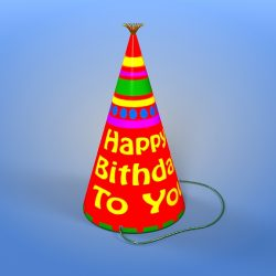 Birthday Hat 3d model 3ds max fbx obj