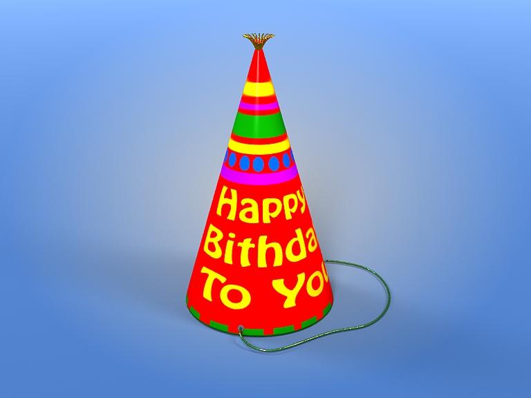 Birthday Hat 3d model 3ds max fbx obj 207106